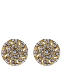 Lulu Frost | Metallic Goldtone Crystal Coquille Stud Earrings | Lyst
