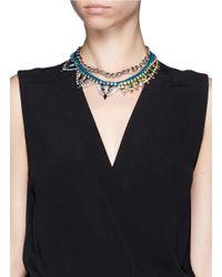 Joomi Lim | Blue Cotton Braid Crystal Necklace | Lyst