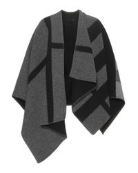 Burberry Prorsum - Gray Wool And Cashmere Poncho - Lyst