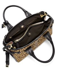 Burberry - Multicolor Banner Medium Leopard-print Calf Hair & Textured Leather Satchel - Lyst