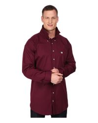 Cinch - Red Long Sleeve Button Down Solid - Lyst