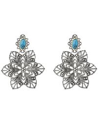 Sam Edelman | Blue Floral Chandelier Earrings | Lyst