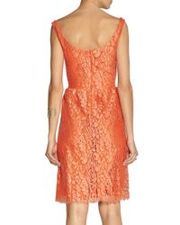 Issa - Red Cotton-blend Lace Dress - Lyst