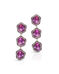 Anne Sisteron | Metallic 14kt Yellow Gold Ruby And Pink Sapphire Diamond Earrings | Lyst