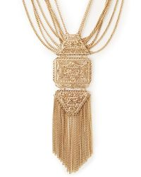 Forever 21 | Metallic Goddess Filigree Necklace | Lyst