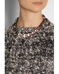 Bottega Veneta   Pink Sterling Silver Beaded Necklace   Lyst