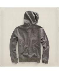 RRL   Black Fleece Pullover Hoodie for Men   Lyst