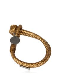 Bottega Veneta | Double Intreccio Metallic Deer Bracelet | Lyst