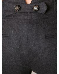 Dolce & Gabbana - Gray Tapered Leg Trousers - Lyst