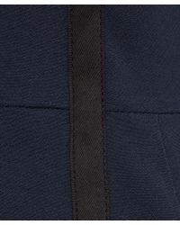 Paul Smith Black Label - Blue Navy Grosgrain Trim Wool-blend Shift Dress - Lyst