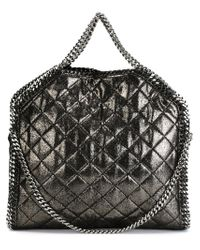 Stella McCartney - Gray 'falabella' Fold Over Tote - Lyst