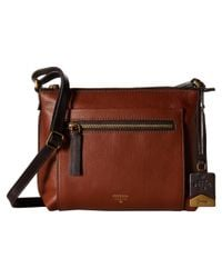 Fossil | Brown Vickery Crossbody | Lyst