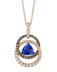 Le Vian | 14k Strawberry Gold Blueberry Tanzanite Pendant With Chocolate And Vanilla Diamonds | Lyst