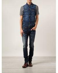 DIESEL - Blue Thavar Sweat Jeans for Men - Lyst