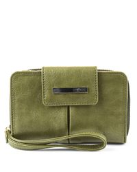 Kenneth Cole Reaction | Green Wooster Street Pda Wristlet | Lyst