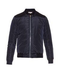 Orlebar Brown - Blue Damon Down-filled Bomber Jacket for Men - Lyst