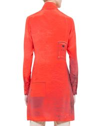 Akris - Orange Secret Door-print Charmeuse Tunic - Lyst