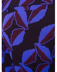 Marni - Black 'arvum' Print Flared Trousers - Lyst