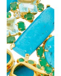 Bounkit | Turquoise, Emerald, And Blue Quartz Cuff | Lyst