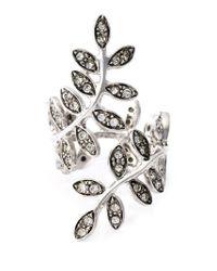 Ca&Lou | Metallic 'anne' Leaf Ring | Lyst