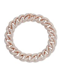 Anne Sisteron | Metallic 14kt Rose Gold Diamond Luxe Chain Link Bracelet | Lyst