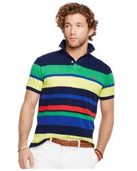Polo Ralph Lauren - Multicolor Custom-Fit Multi-Striped Mesh Polo for Men - Lyst