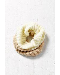 BDG | White Fuzzy Funnel Scarf | Lyst