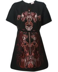 Giamba - Black Floral Jacquard Dress - Lyst