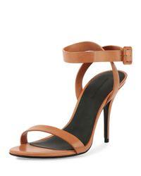 Alexander Wang - Brown Antonia Leather Sandals - Lyst