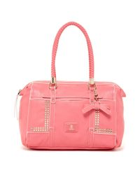 Guess - Pink Guess Road Trip Large Frame Satchel - Lyst