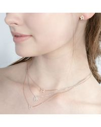 Astrid & Miyu | Pink Rose Gold New Tricks Star Necklace | Lyst