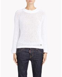 DSquared² | White Pullover | Lyst