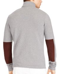 Polo Ralph Lauren - Gray French Terry Mockneck Pullover for Men - Lyst