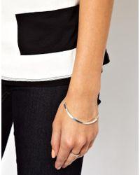 ASOS | Metallic Bar Bracelet | Lyst