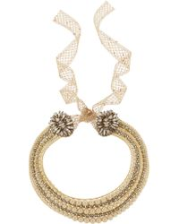 Erickson Beamon - Metallic Stratosphere Gold-plated, Swarovski Crystal And Glass Pearl Necklace - Lyst