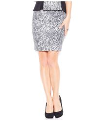 Guess - Multicolor Snakeskin-Embossed Pencil Skirt - Lyst