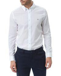 Lacoste - White Long Sleeve City Shirt for Men - Lyst
