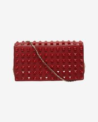 Valentino - All Over Lacquered Stud Flap Crossbody Bag Rouge - Lyst