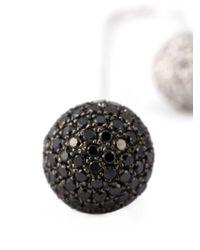Asherali Knopfer   Black Interchangeable Diamond Bar Earring   Lyst
