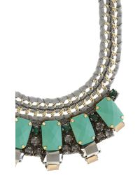 Karen Millen | Blue Statement Necklace | Lyst