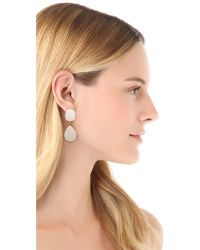 Kenneth Jay Lane - White Bold Teardrop Earrings - Lyst