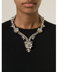 Shourouk - Metallic 'Twiggy' Necklace - Lyst