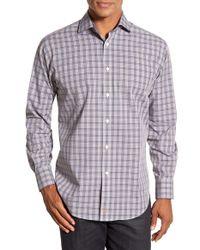 Thomas Dean | Brown Plaid Sport Shirt for Men | Lyst