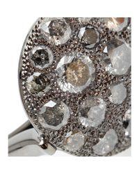 Roberto Marroni | Metallic Mora 18kt Oxidized White Gold And Grey Diamond Ring | Lyst
