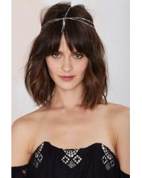 Nasty Gal | Gia Metallic Head Piece | Lyst