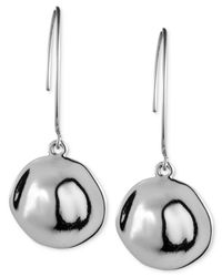 Anne Klein | Metallic Silver-tone Drop Earrings | Lyst