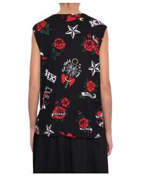 KTZ - Red Cotton Top With The World To Come Print - Lyst