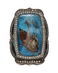 Sevan Biçakci - Blue Man In A Boat Intaglio Ring - Lyst
