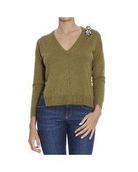 Pinko | Green Sweater | Lyst
