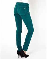 M.i.h Jeans - Green Breathless Trouser in Teal Velvet - Lyst
